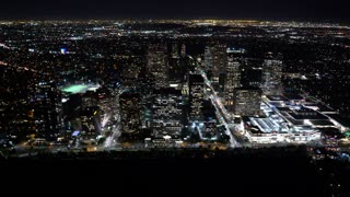 Aerial view of a Los Angeles, CA in HD
