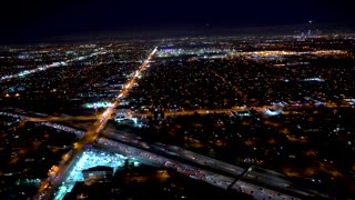 Aerial view of Los Angeles in 4K from a helicopter