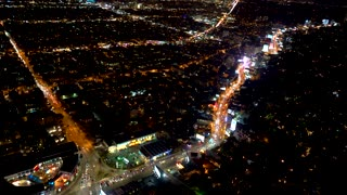 Aerial view of Sunset Boulevard in Los