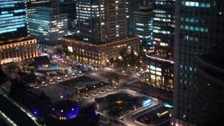 Aerial view of Tokyo Station in Marunouchi, Tokyo, Japan