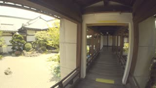 Point of View tour through a Japanese Temple