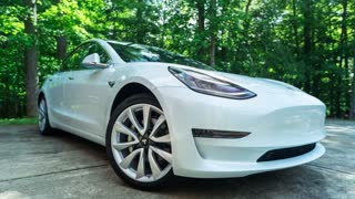 RALEIGH, NC, JUNE 30, 2018: A new Tesla Model 3. The Model 3 is set to be the Tesla's first mass market electric vehicle.