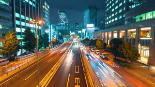 Time-lapse of a highway in Shibuya, Tokyo, Japan