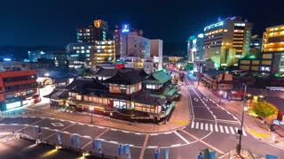 Time-lapse of Dogo Onsen the oldest hot-spring bathhouse in Japan