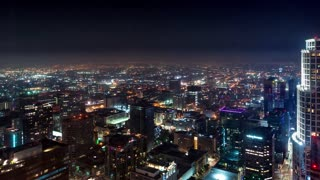 Time-lapse of Downtown Los Angeles at night