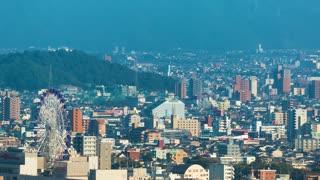 Time lapse of Matsuyama, Japan the largest city on the island of Shikoku