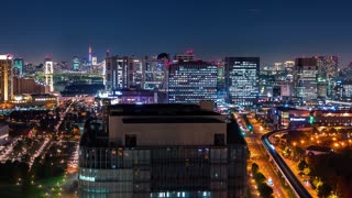 Time-lapse of Minato Tokyo at night from Odaiba