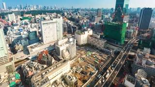Time-lapse of Shibuya, Tokyo, Japan on a sunny day