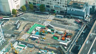 Time-lapse of the bus station in Shibuya, Tokyo, Japan