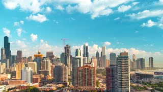 Time-lapse of the Chicago skyline on a clear summer afternoon