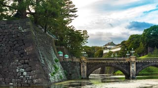 Time-lapse of the Emperor's Imperial Palace in Chiyoda, Tokyo, Japan