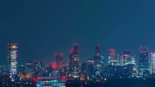 Time-lapse of the skyline of Shinjuku, Tokyo, Japan