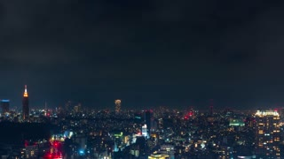Time-lapse of the skyline of Shinjuku, Tokyo, Japan