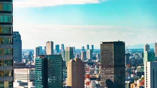 Time-lapse of the Tokyo skyline in the afternoon