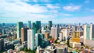 Time-lapse of the Tokyo skyline in the day time