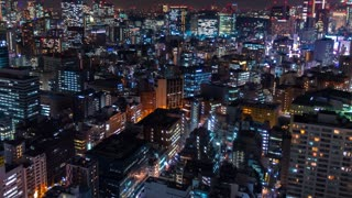 Time-lapse of Tokyo at in Minato