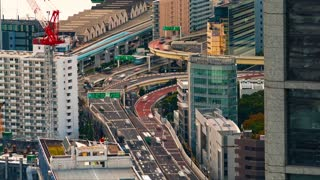 Time-lapse of Tokyo highways in the morning