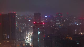 Tokyo sunrise morning time-lapse during a rain storm