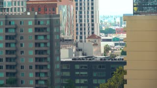 View of Downtown Los Angeles buildings in the afternoon