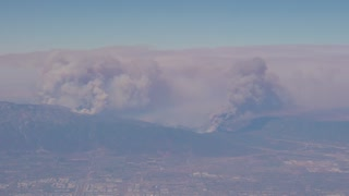 Wild fires in the mountains surrounding Los Angeles