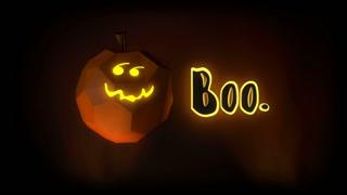 Halloween Jack-o-Lantern Boo