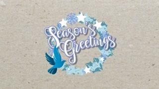 PCM: Modern Christmas Wreath - Season's Greetings