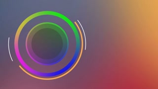 Colorful Circular Intro Left Side Of Screen