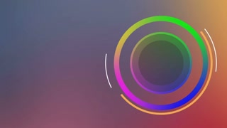 Colorful Circular Intro Right Side of Screen
