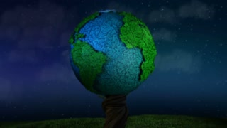 Green Planet Earth at Night