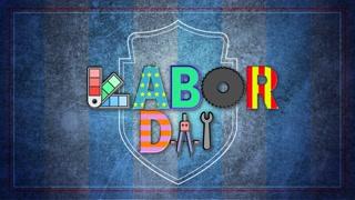 Labor Day Logo USA