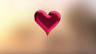 Red Heart-Shaped Balloon Center