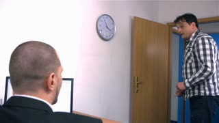 Boss At Office Showing Worker to Complete Job Fast