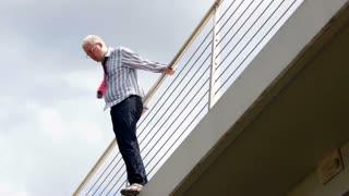 Businessman Doing Suicide From Bridge