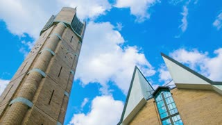 Church and clouds timelapse 4K