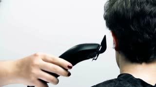 Client Hair Cut At Hairdresser