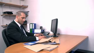 Depressed Businessman At Office