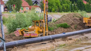 Equipment for building gas line pipes