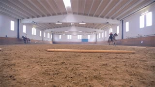 Horse Riding Show in Big Bright Riding Hall
