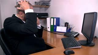 Man Depressed Over Phone Call At Work