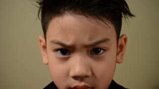 Asian child facial expressions