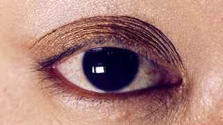 Close up of young asian woman's eye