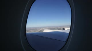 Outside view of Flying on jet plane