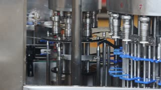 Production of ice cream in a dairy factory, industrial equipment for mix