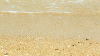 Sea Waves over Sand Beach Holiday Background HD