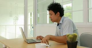 Serious asian business man , Negative human emotion facial expression feelings.