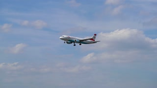 AIRPORT FRANKFURT,GERMANY: JUNE 23, 2017: Boeing 767 Austrian Airlines AG is the flag carrier of Austria and a subsidiary of the Lufthansa Group