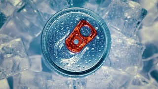 Aluminum Soda Tin Can Lid Cover of soft drink on ice goes around the circle.
