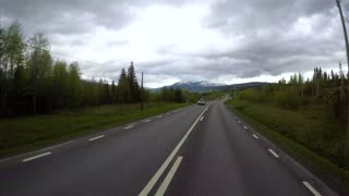 Driving a Car on a Road in Norway time lapse