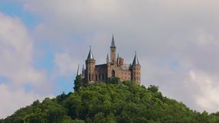 Hohenzollern Castle, Germany timelapse.