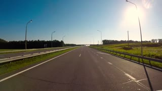 Timelapse car driving on the autobahn